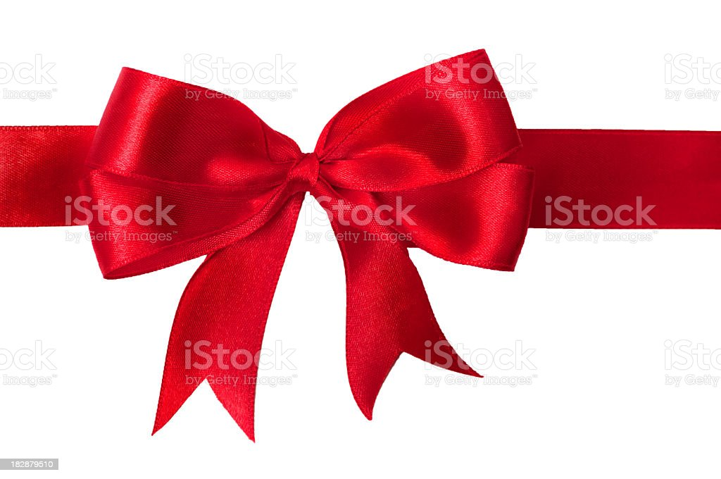 bright red bow royalty-free stock photo