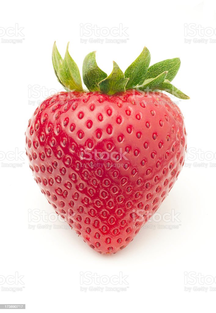 Bright red, delicious looking fresh strawberry stock photo