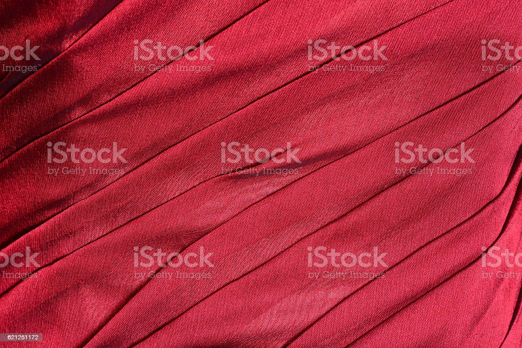 Bright red  fabric folded background stock photo
