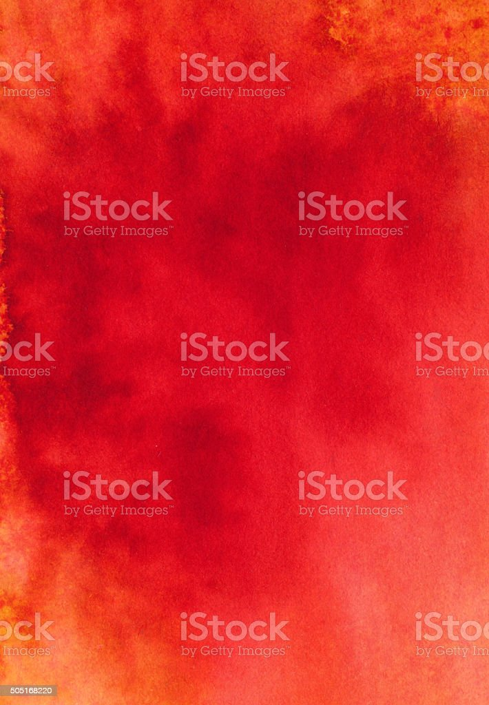 Bright red hand painted background with subtle texture stock photo
