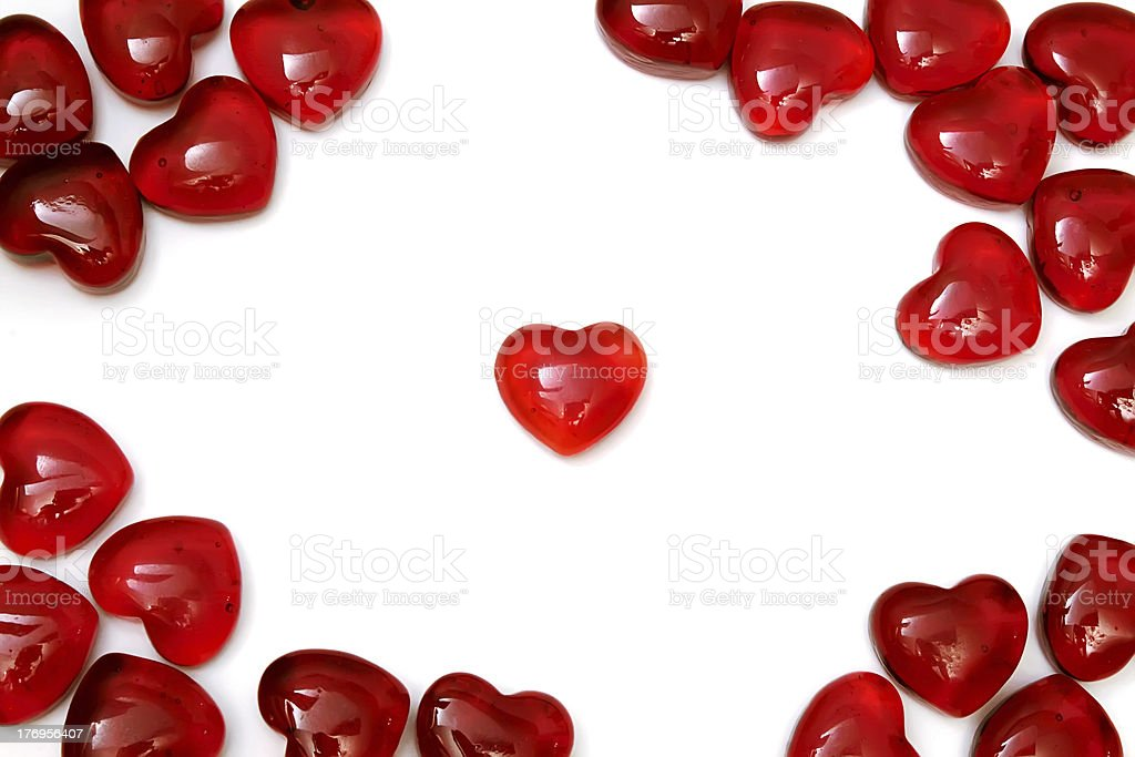 Bright red hearts royalty-free stock photo