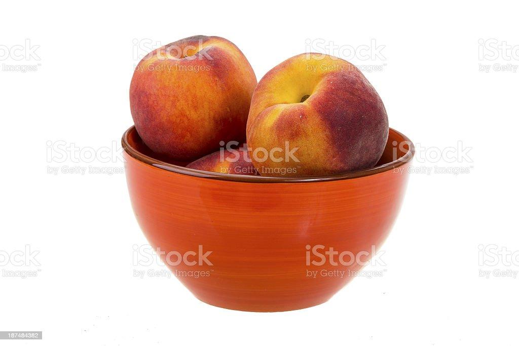 Bright ripe peaches royalty-free stock photo