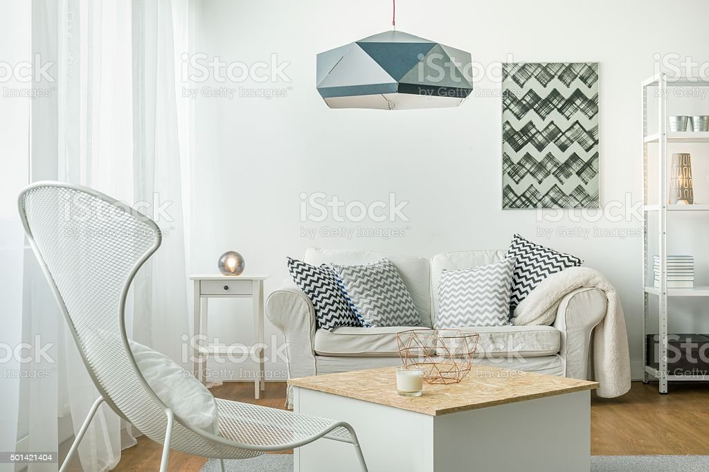 Bright room arrangement stock photo