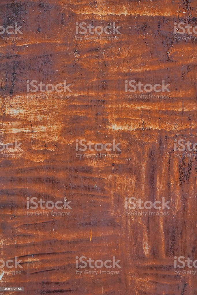 Bright rust stained corroded metal surface royalty-free stock photo