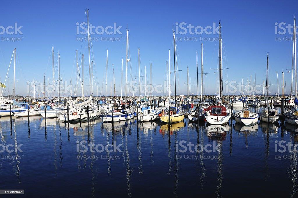 bright sailboats royalty-free stock photo
