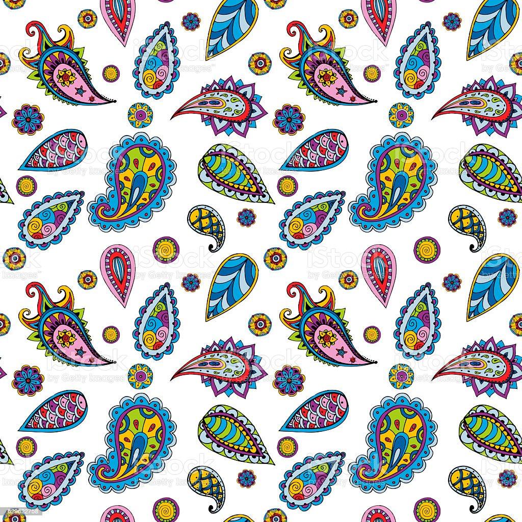 Bright seamless pattern stock photo