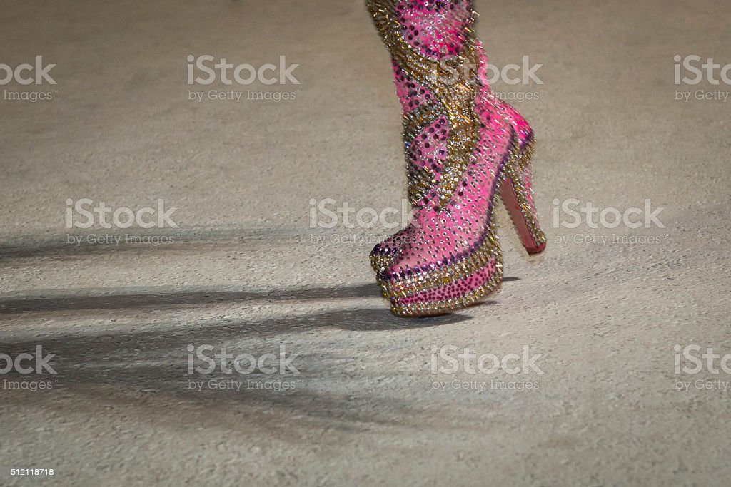 Bright shoes stock photo