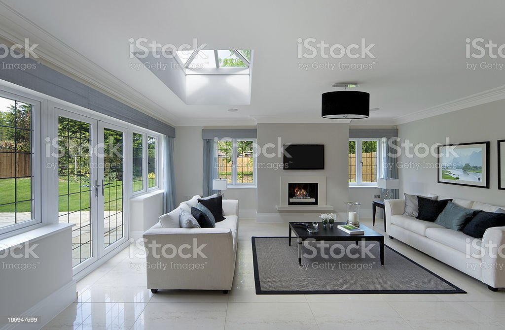 bright sitting room stock photo