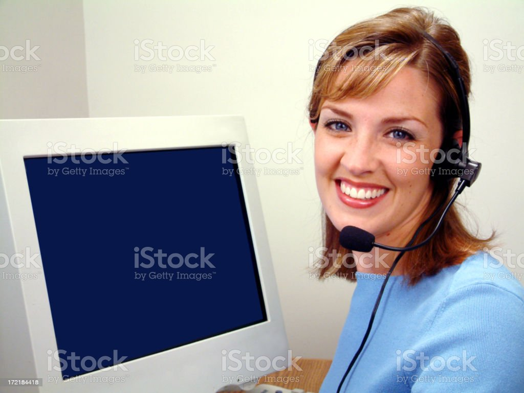 Bright Smile Operator stock photo