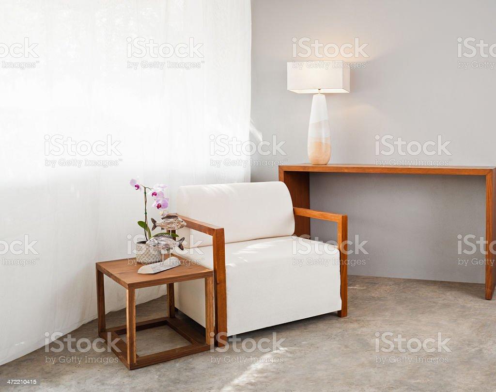 Bright sofa seat stock photo
