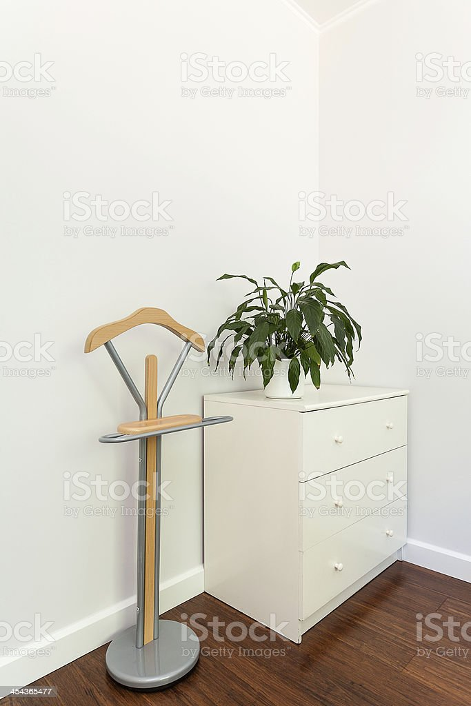 Bright space - chest of drawers royalty-free stock photo