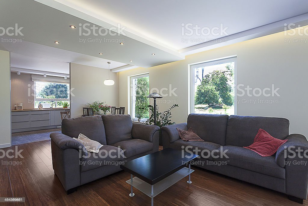 Bright space - living room suite royalty-free stock photo