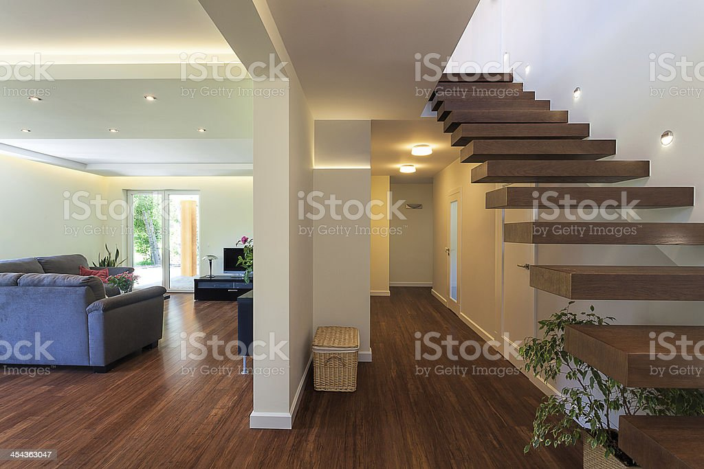 Bright space - luxorious apartment royalty-free stock photo