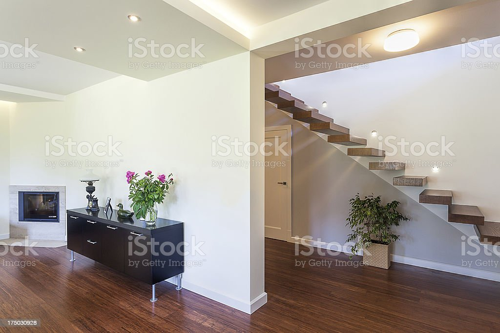 Bright space - modern interior royalty-free stock photo