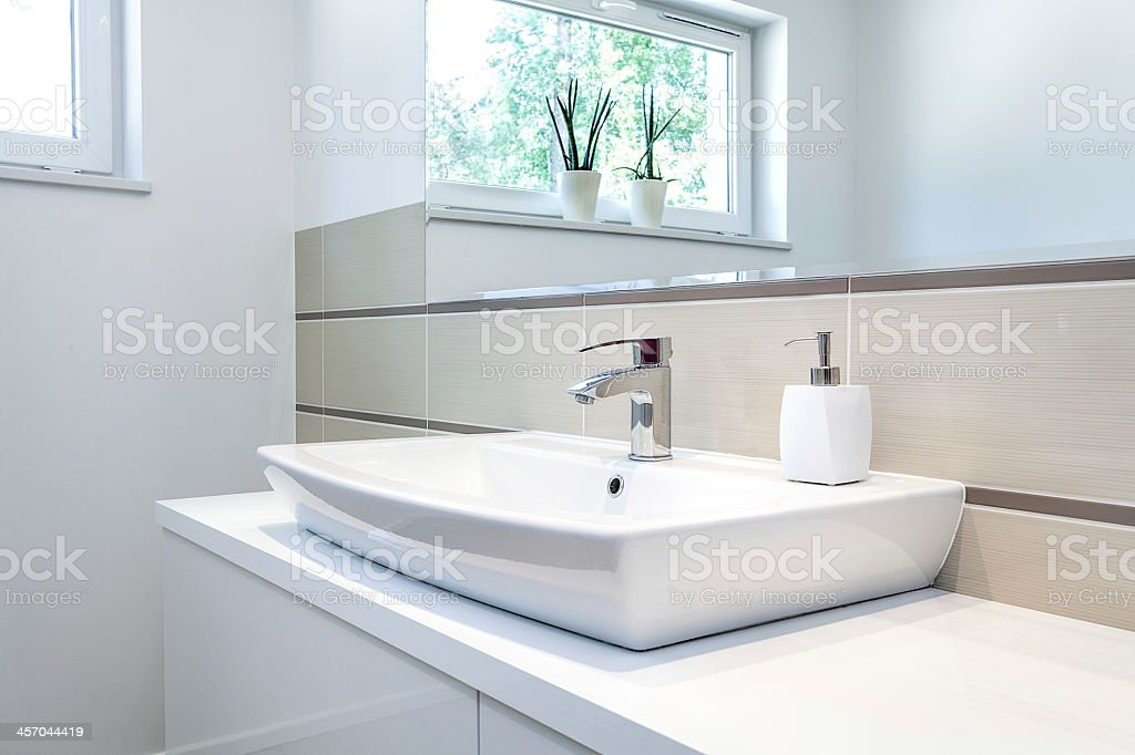 Bright space - tap stock photo