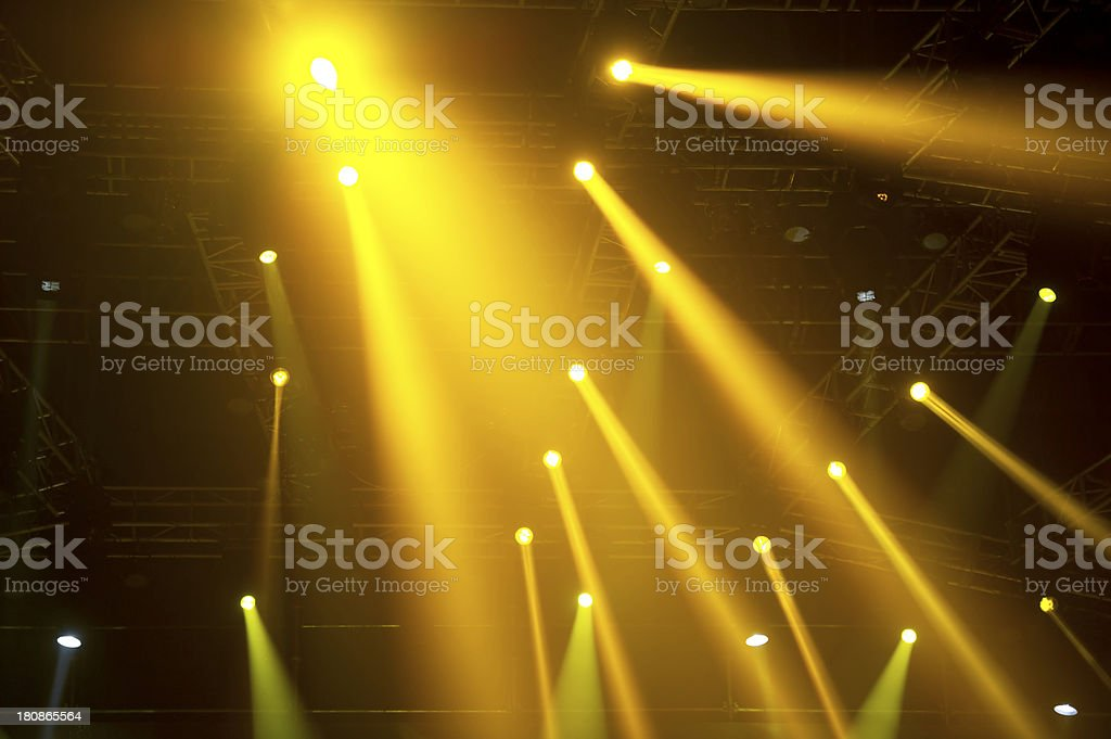 Bright Spotlights royalty-free stock photo
