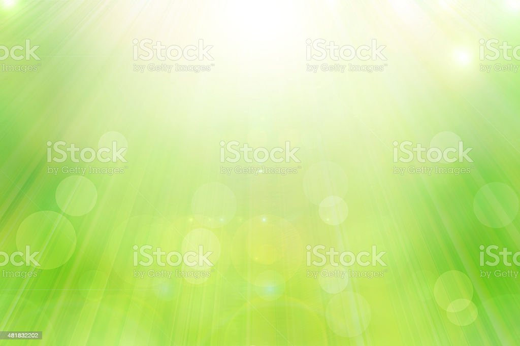 bright spring with sunlight bokeh background from tree vector art illustration