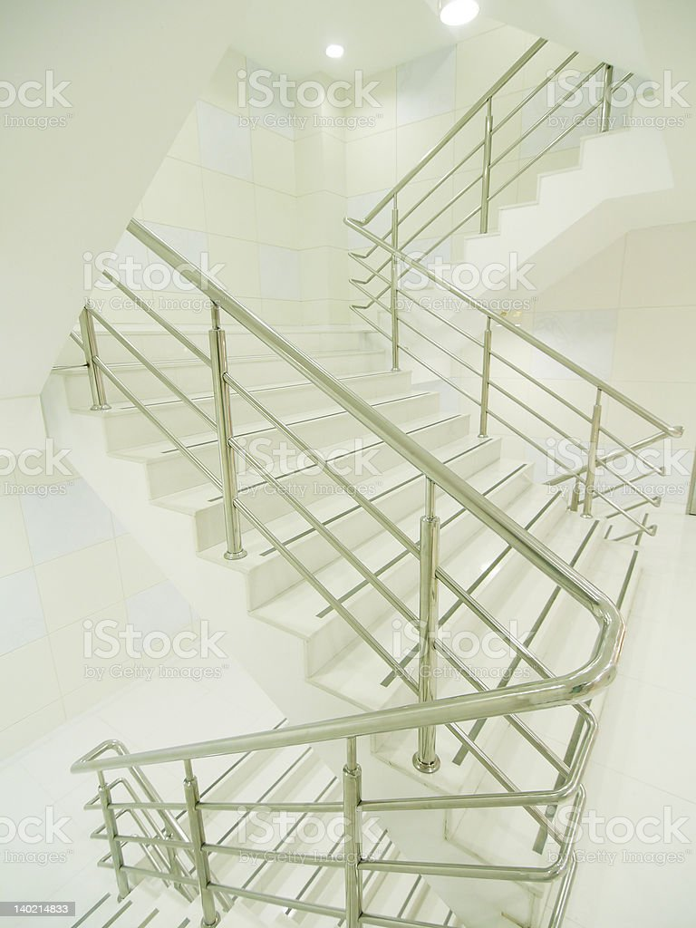 Bright staircase royalty-free stock photo