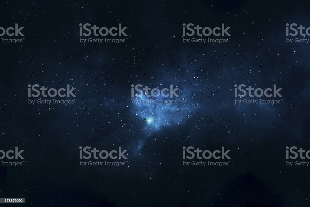 Bright star in distant space and universe royalty-free stock photo