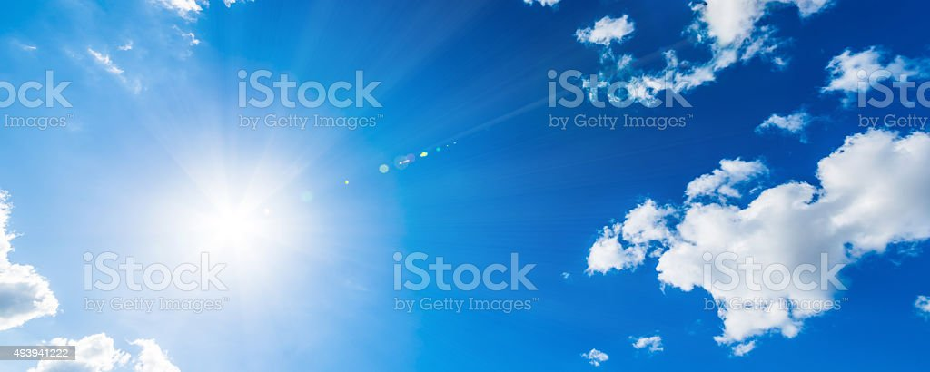 Bright Sun stock photo