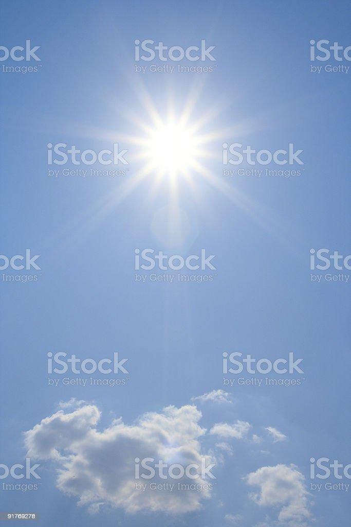 bright sun stock photo