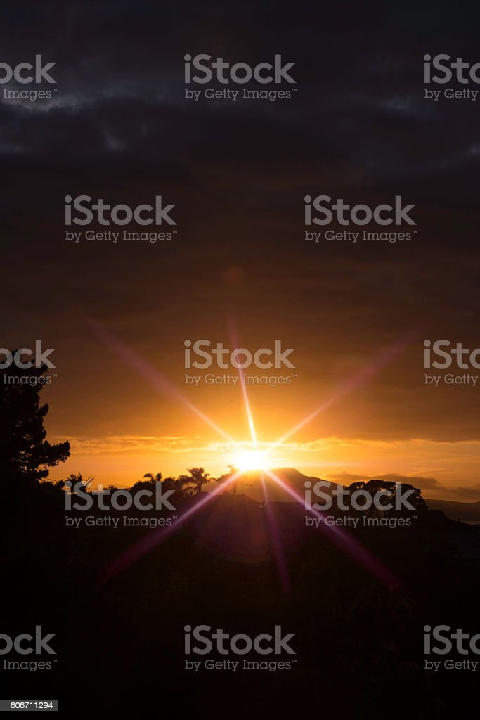 Bright Sun with flare stock photo