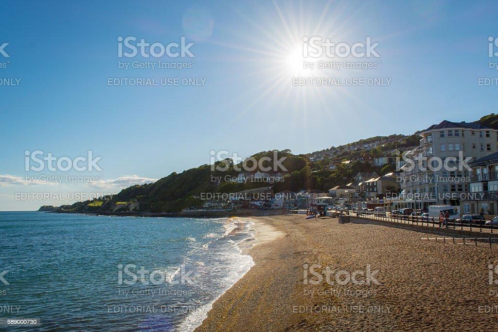 Bright Sunny Beach. stock photo