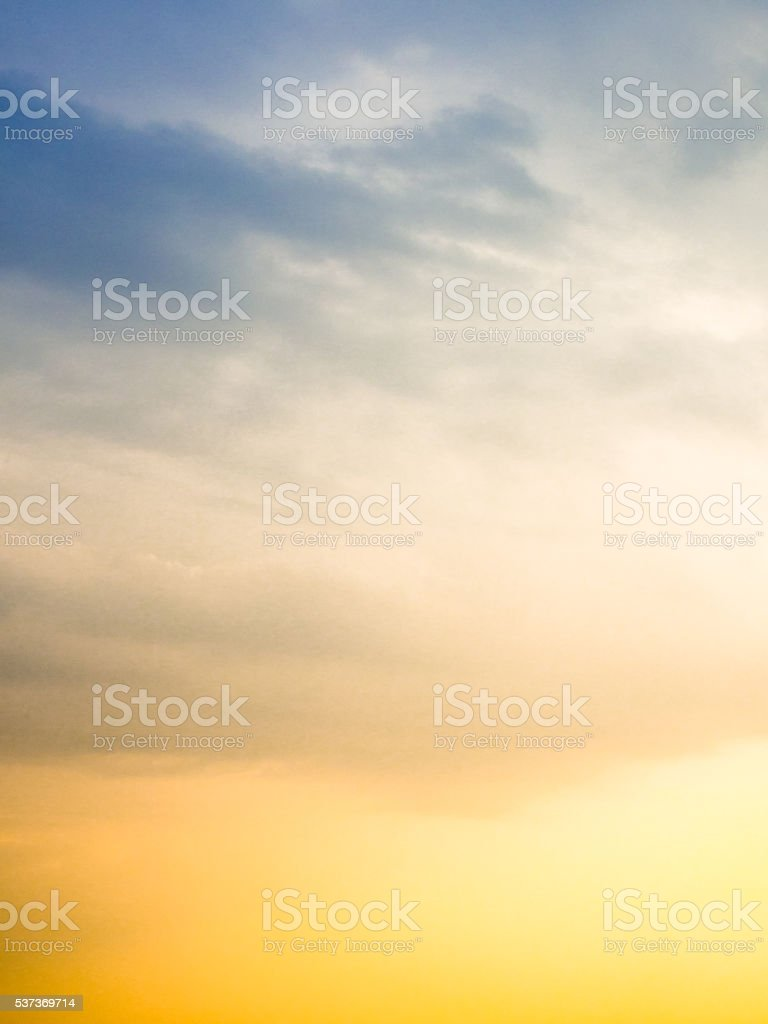 Bright Sunny skies before the storm stock photo