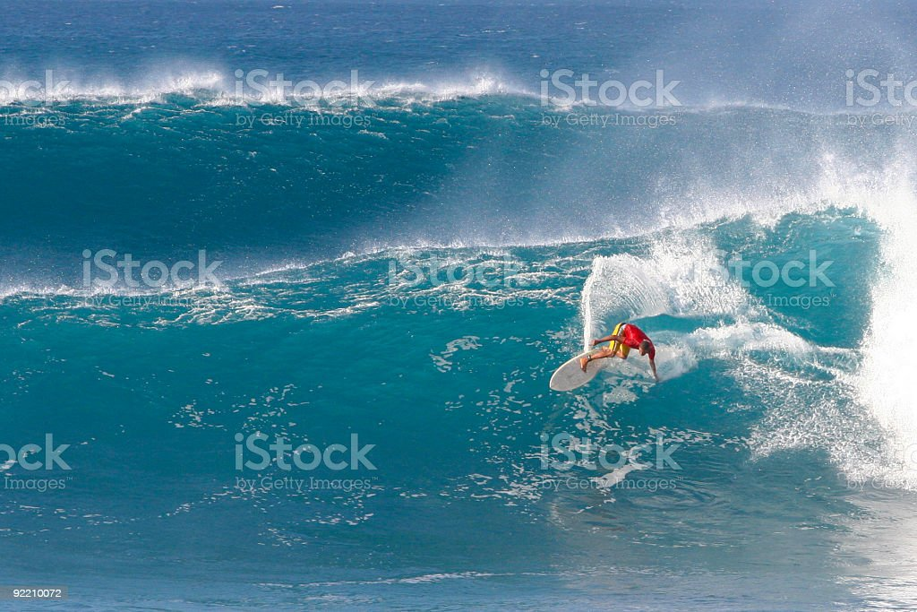 Bright surfer stock photo