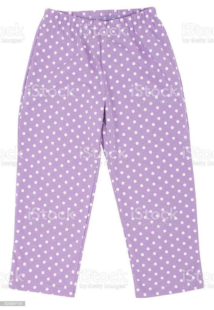 Bright sweatpants stock photo