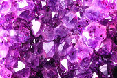 Bright Texture from Natural Amethyst
