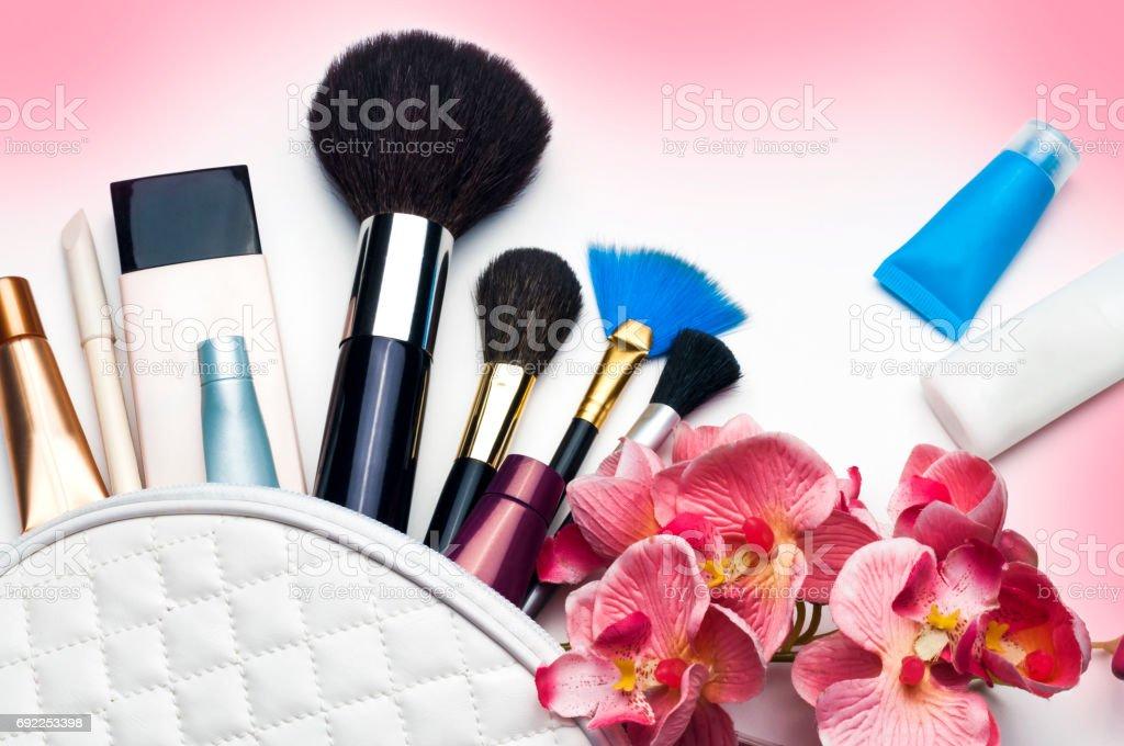 bright trendy accessories for women stock photo