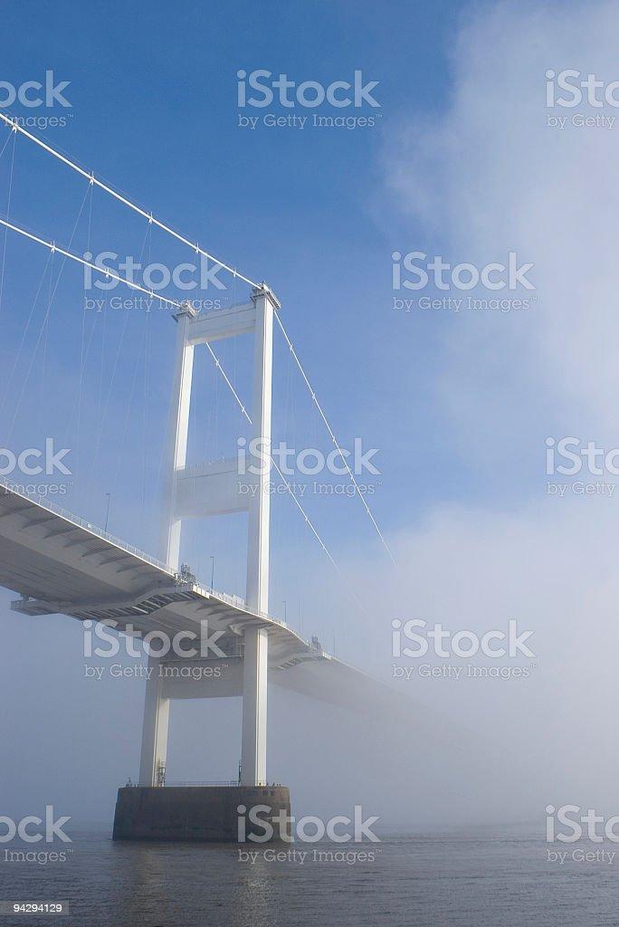 Bright white bridge royalty-free stock photo