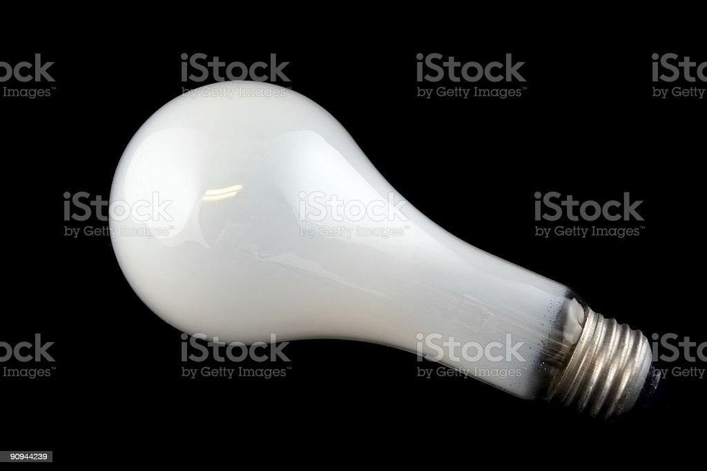 Bright White Light Bulb royalty-free stock photo