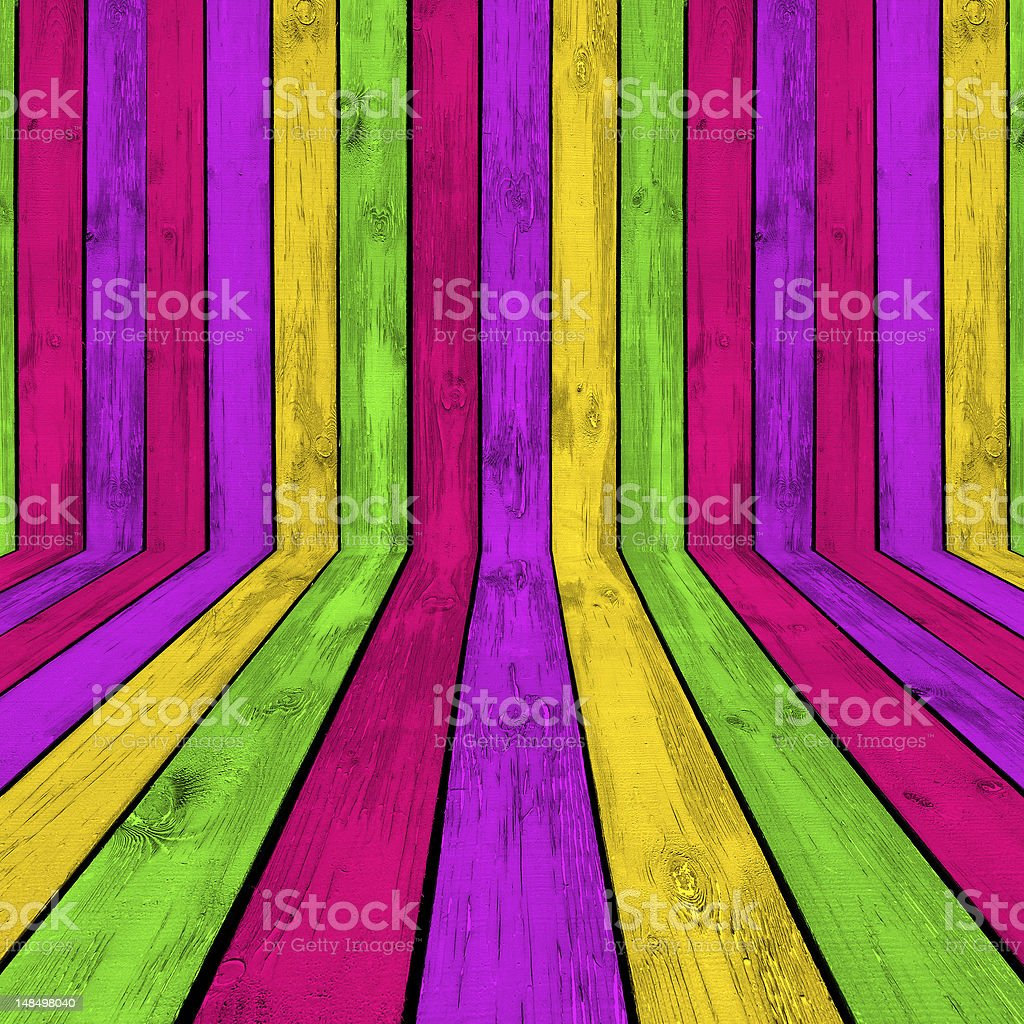 Bright Wooden Room Background royalty-free stock photo
