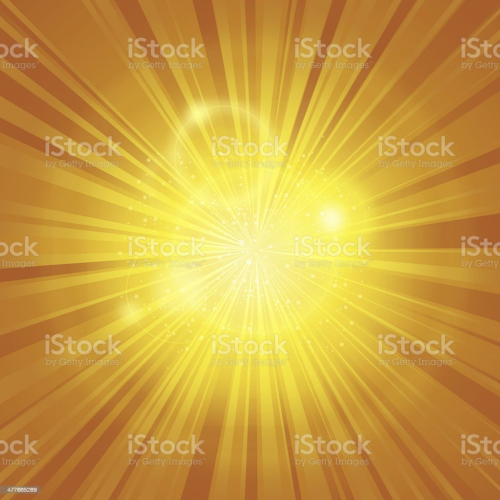 Bright Yellow Light Rays Background royalty-free stock photo