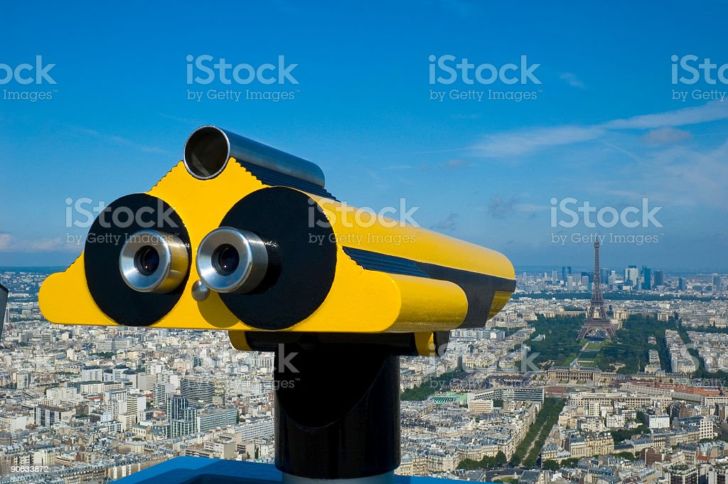 Bright yellow telescope royalty-free stock photo