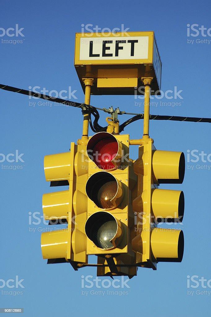 Bright yellow traffic light royalty-free stock photo