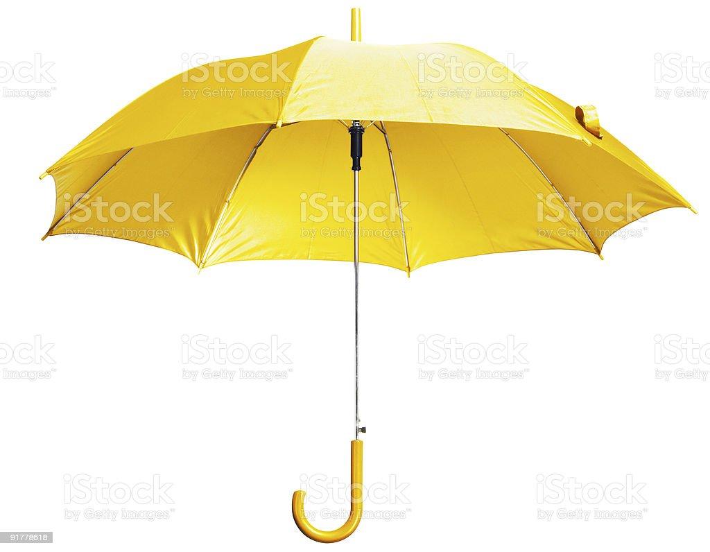 bright yellow umbrella stock photo
