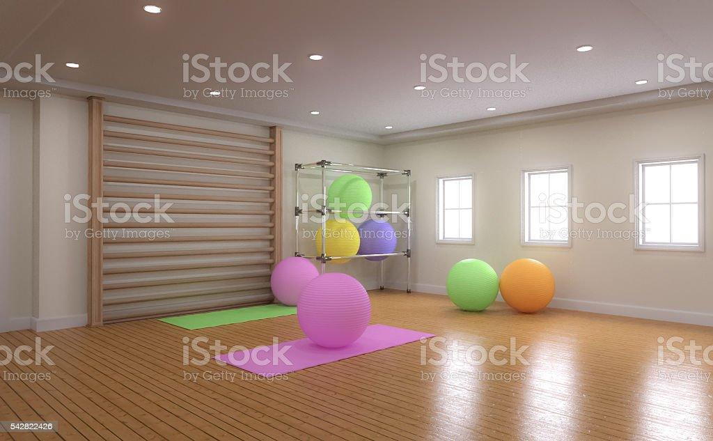 Bright Yoga Stuido stock photo