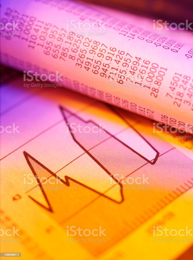Brighten up the Financial Figures royalty-free stock photo