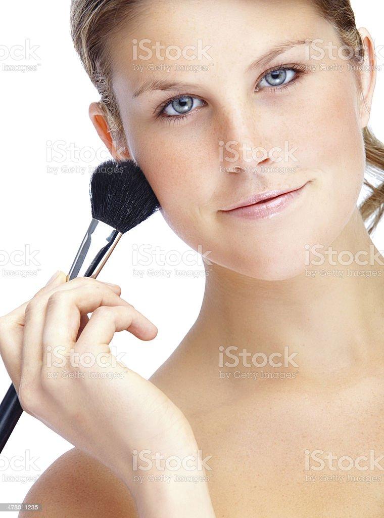 Brightening up her skin royalty-free stock photo