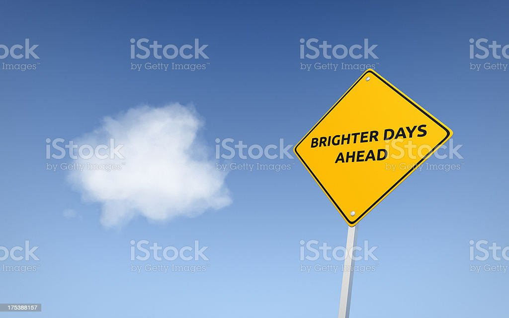 Brighter Days Ahead royalty-free stock photo