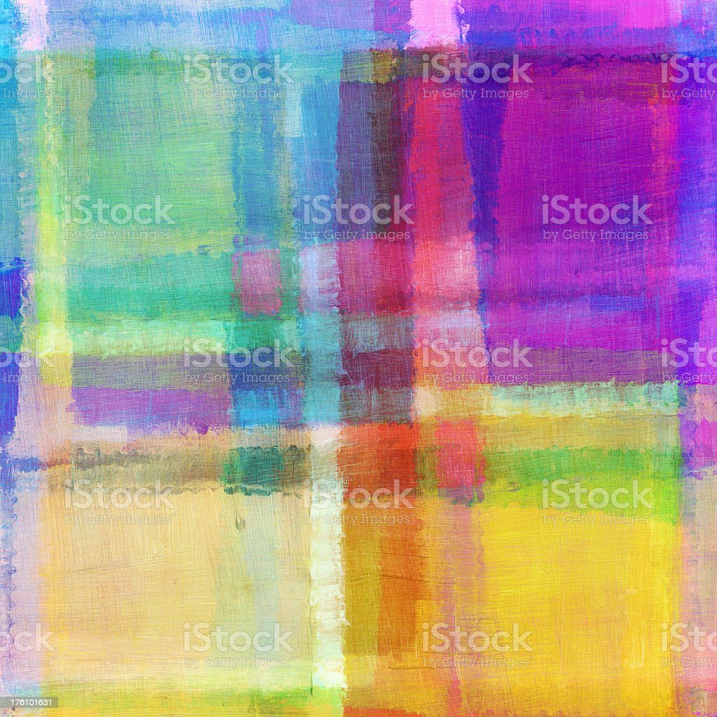 Brightly Colored Abstract Art royalty-free stock photo