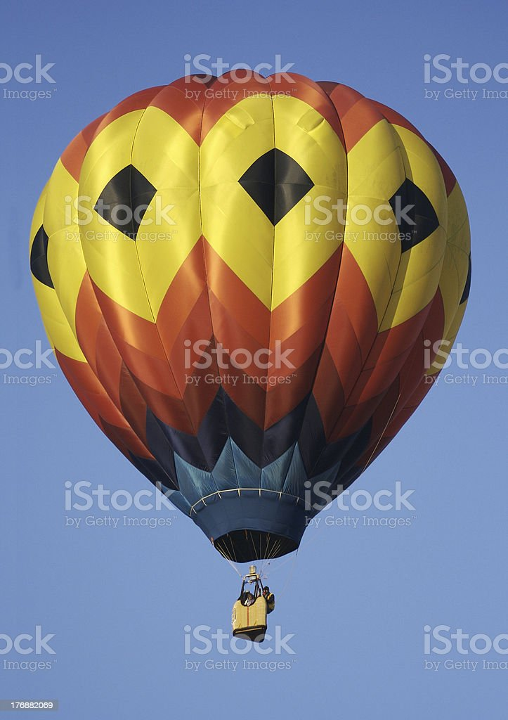 Brightly Colored Hot Air Balloon stock photo