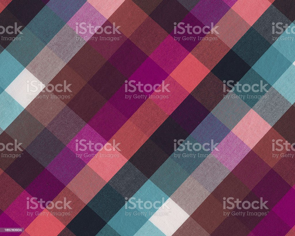 brightly colored plaid woven fabric stock photo