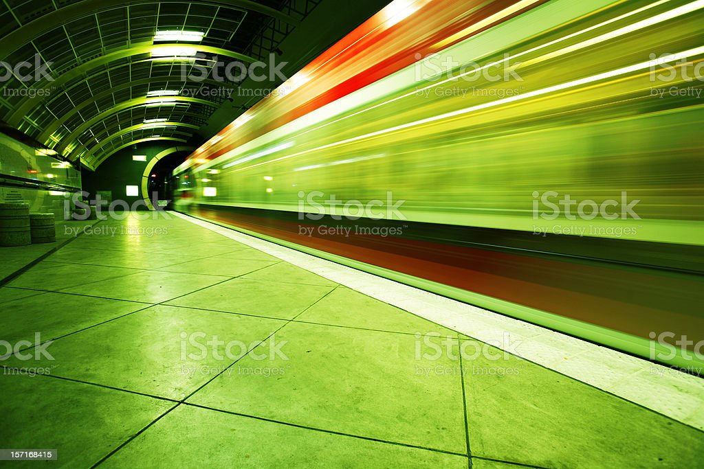 Brightly Colored Public Transportation royalty-free stock photo
