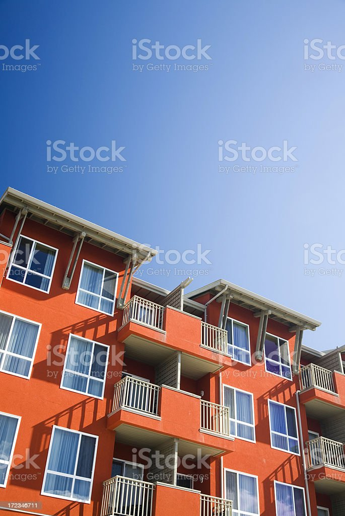 Brightly Coloured Condos royalty-free stock photo