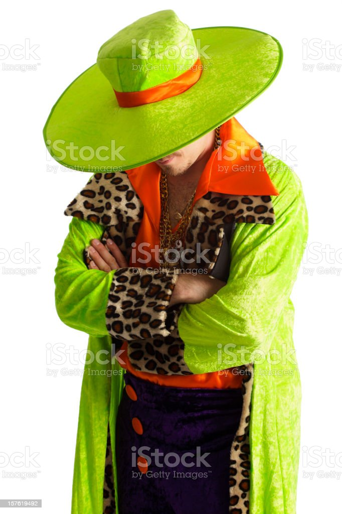 Brightly Dressed Man stock photo
