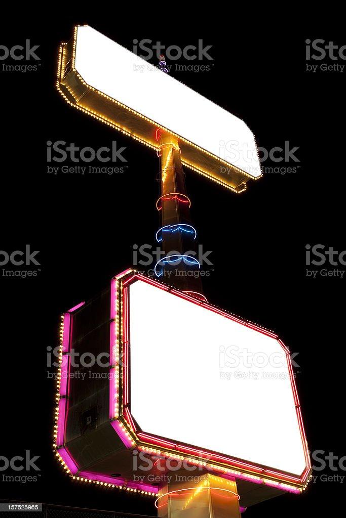 Brightly lit billboard royalty-free stock photo